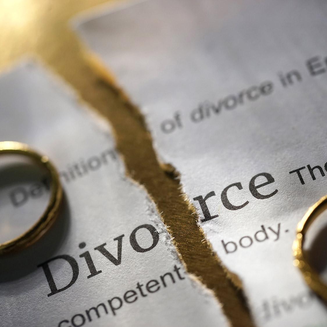 divorce torn paper